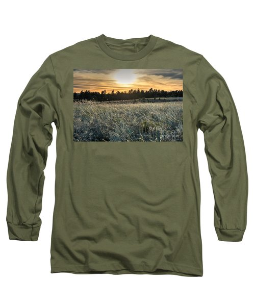 Long Sleeve T-Shirt featuring the photograph Evening Grasses In The Black Hills by Bill Gabbert