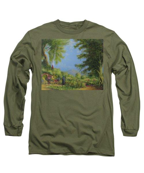 Evening In The Shire. Long Sleeve T-Shirt by Joe  Gilronan