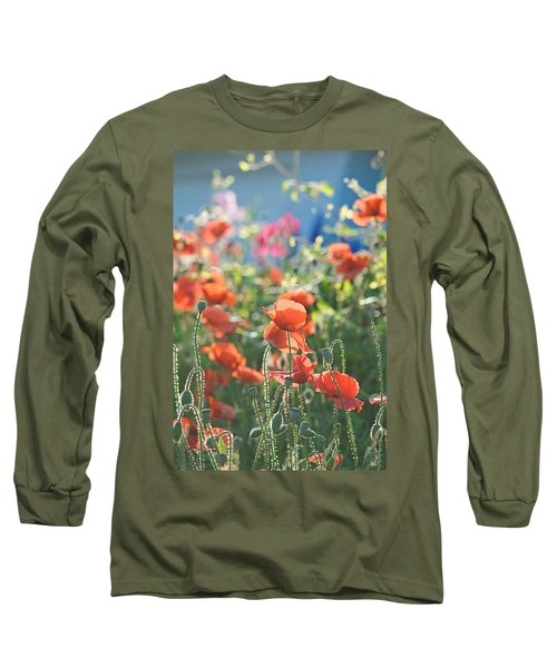 Evening Lights The Poppies Long Sleeve T-Shirt