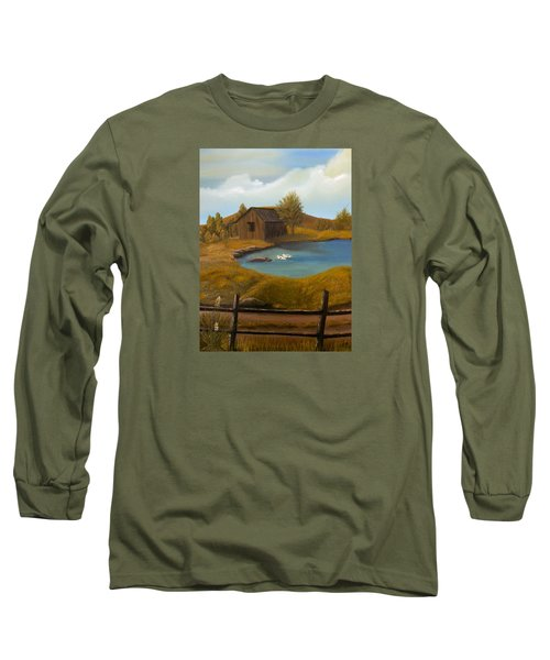Evening Solitude Long Sleeve T-Shirt by Sheri Keith