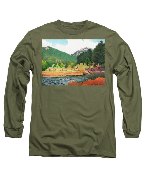 Evergreen Lake Spring Long Sleeve T-Shirt by Dan Miller