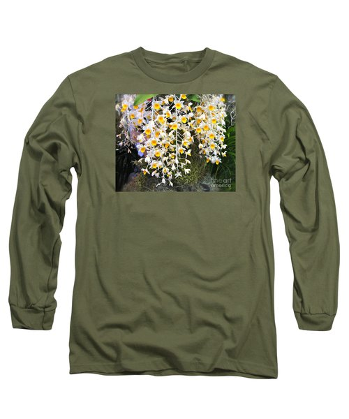 Exotic Aerides Long Sleeve T-Shirt by The Art of Alice Terrill