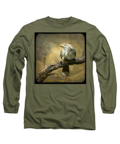 Exotic Bird - Guira Cuckoo Bird Long Sleeve T-Shirt by Gary Heller