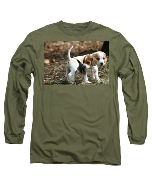 Exploring Beagle Pups Long Sleeve T-Shirt