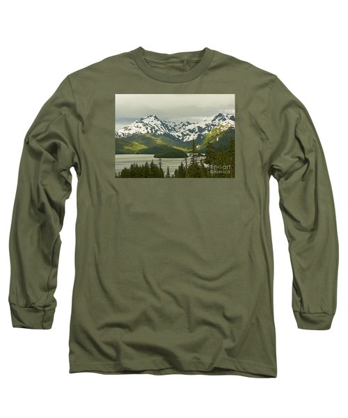 Long Sleeve T-Shirt featuring the photograph Eyak Lake Landscape by Nick  Boren