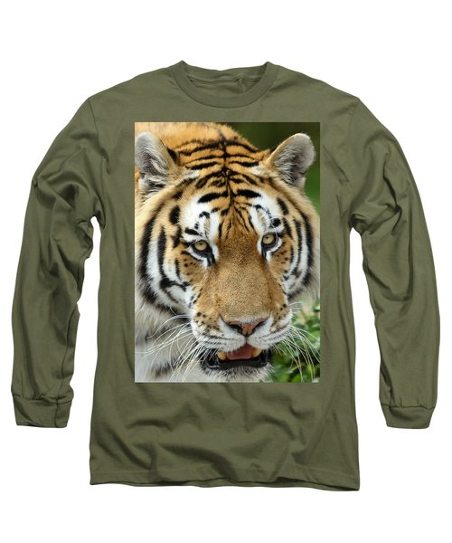 Long Sleeve T-Shirt featuring the photograph Eyes Of The Tiger by John Haldane