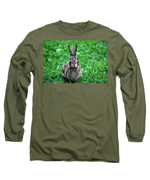 Long Sleeve T-Shirt featuring the photograph Eyes Wide Open by Trina  Ansel