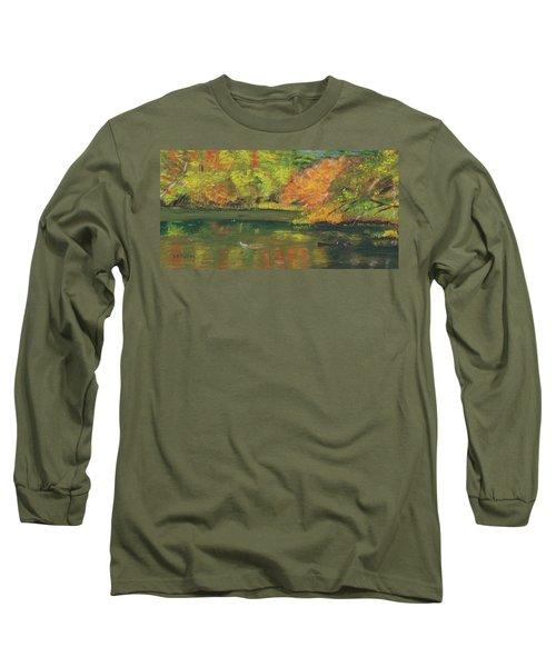 Fall At Dorrs Pond Long Sleeve T-Shirt