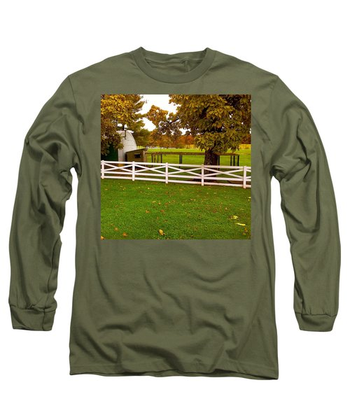 Long Sleeve T-Shirt featuring the photograph Fall At Eisenhower Farm by Amazing Photographs AKA Christian Wilson