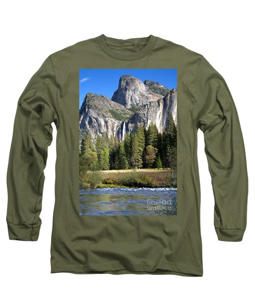Yosemite National Park-sentinel Rock Long Sleeve T-Shirt by David Millenheft