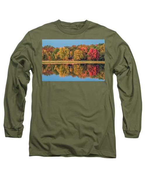 Fall Colors In Cabin Country Long Sleeve T-Shirt by Paul Freidlund