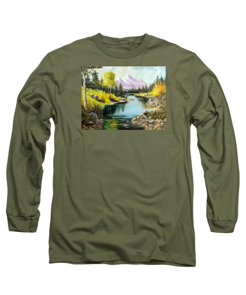 Fall In The Rockies Long Sleeve T-Shirt by Lee Piper