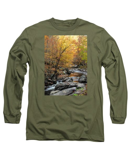 Long Sleeve T-Shirt featuring the photograph Fall Mountain Stream by Debbie Green