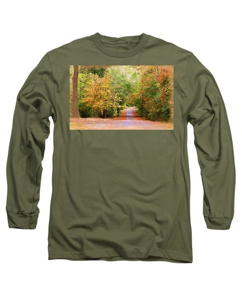 Long Sleeve T-Shirt featuring the photograph Fall Pathway by Judy Vincent