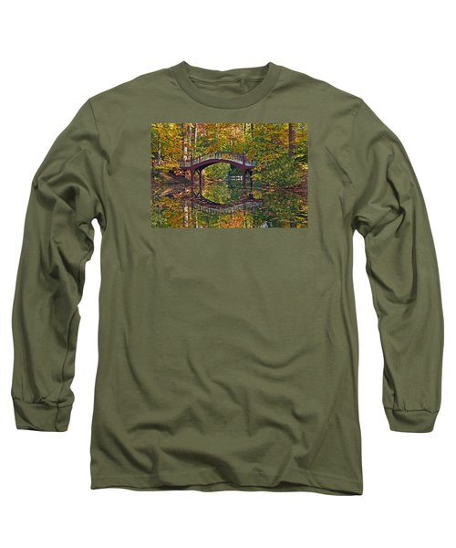 Fall Reflections At Crim Dell Long Sleeve T-Shirt by Jerry Gammon