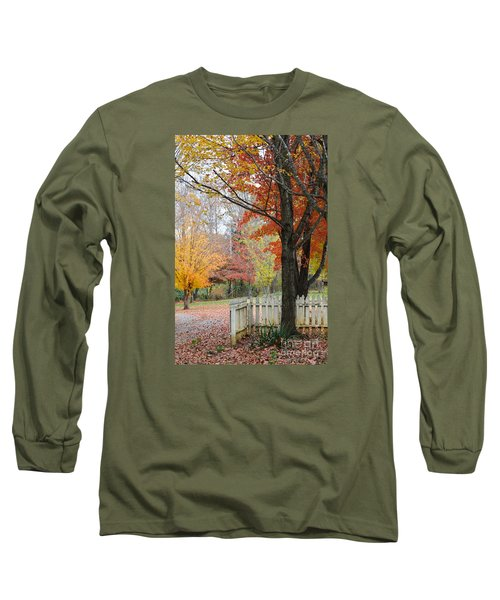 Fall Tranquility Long Sleeve T-Shirt by Debbie Green