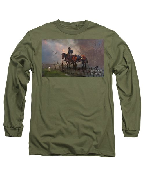 Long Sleeve T-Shirt featuring the painting Fallen Comrade by Rob Corsetti