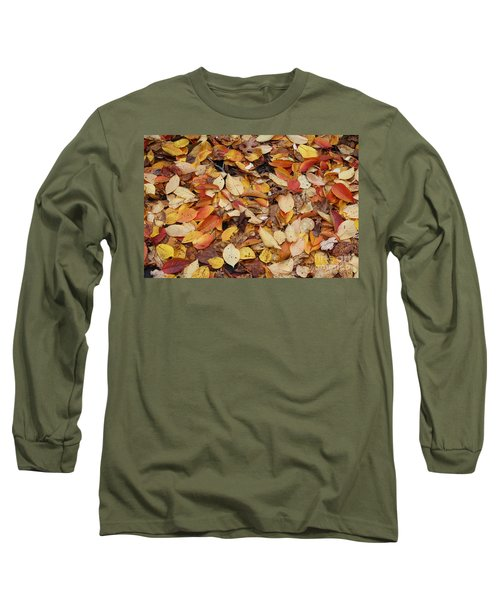 Long Sleeve T-Shirt featuring the photograph Fallen Leaves by Dora Sofia Caputo Photographic Art and Design