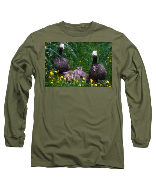 Family Of Emperor Geese Long Sleeve T-Shirt