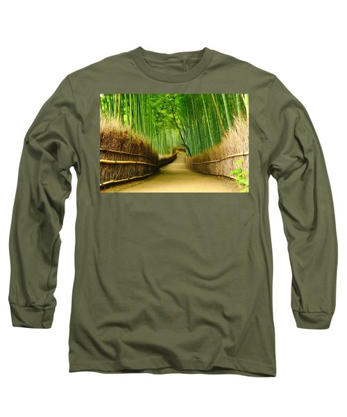 Famous Bamboo Grove At Arashiyama Long Sleeve T-Shirt