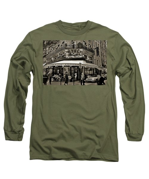 Famous Cafe De Flore - Paris Long Sleeve T-Shirt