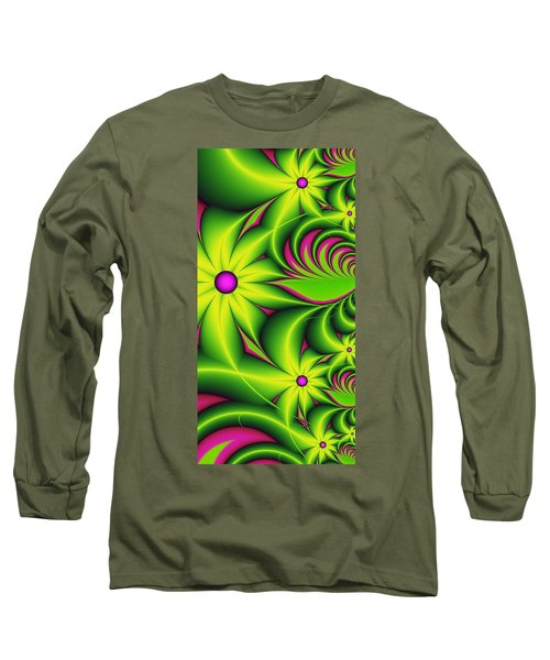 Long Sleeve T-Shirt featuring the digital art Fantasy Flowers by Gabiw Art