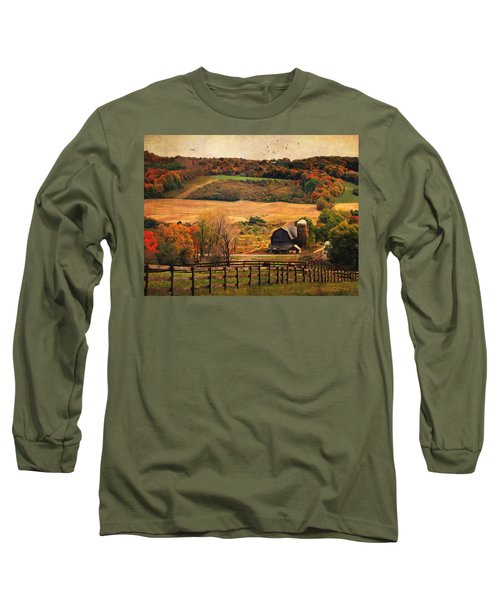 Farm Country Autumn - Sheldon Ny Long Sleeve T-Shirt by Lianne Schneider