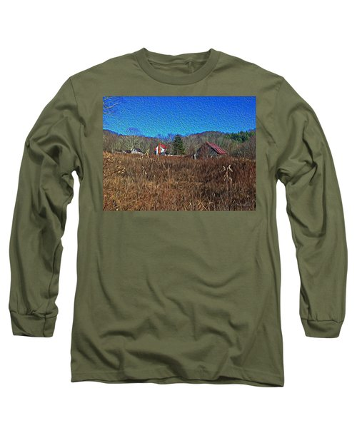 Farm House 2 Long Sleeve T-Shirt by Tom Culver