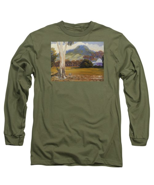 Farm With Large Gum Tree Long Sleeve T-Shirt