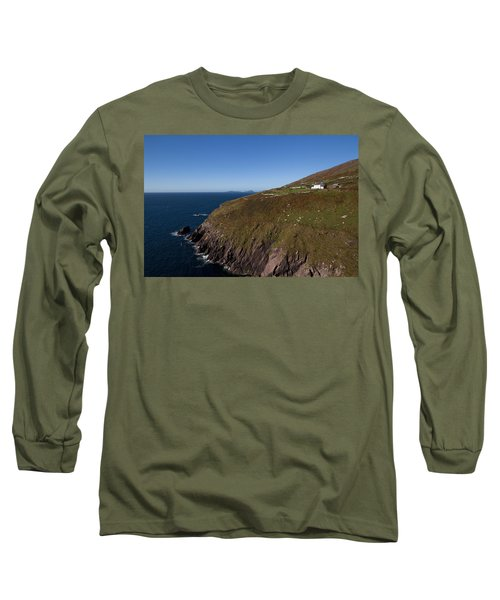 Farmhouse And Distant Blasket Islands Long Sleeve T-Shirt