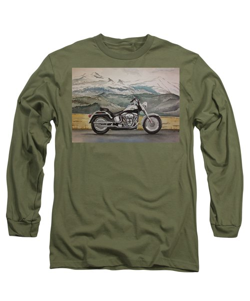 Long Sleeve T-Shirt featuring the painting Fatboy by Rachel Hames