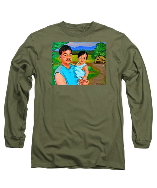 Father And Son Long Sleeve T-Shirt by Cyril Maza