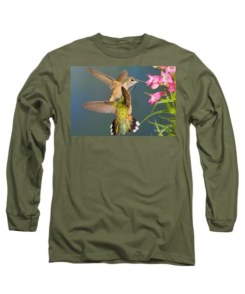 Female Broad-tailed Hummingbird Long Sleeve T-Shirt