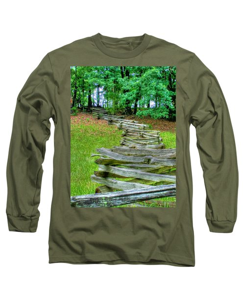 Fence Line Long Sleeve T-Shirt by Dan Stone