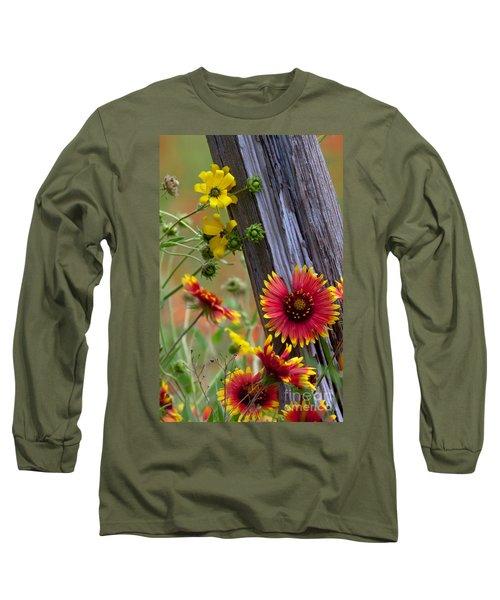 Fenceline Wildflowers Long Sleeve T-Shirt
