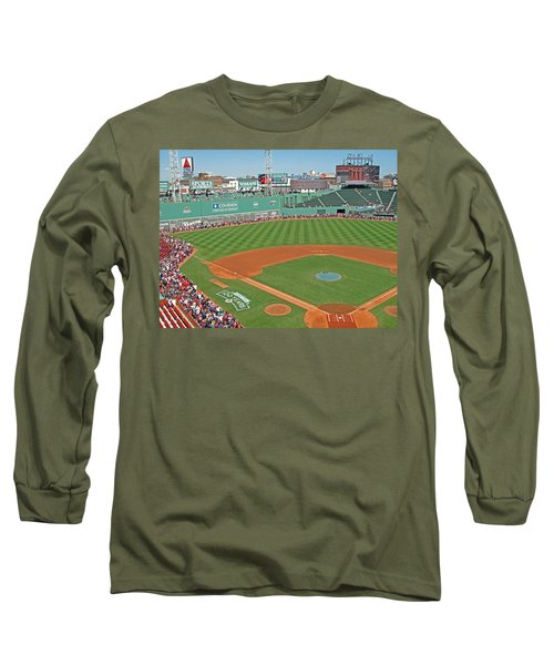 Long Sleeve T-Shirt featuring the photograph Fenway One Hundred Years by Barbara McDevitt