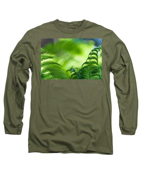 Fern Leaves. Healing Art Long Sleeve T-Shirt