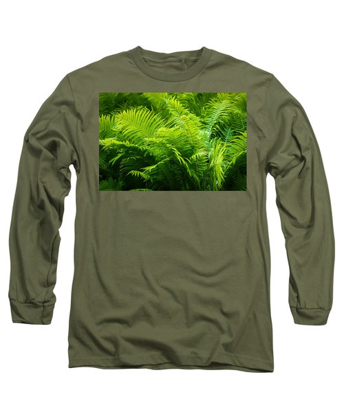 Ferns 1 Long Sleeve T-Shirt by Alexander Senin