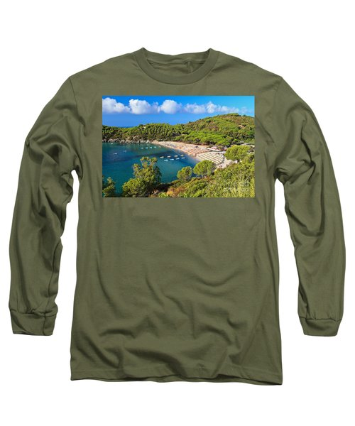 Fetovaia Beach - Elba Island Long Sleeve T-Shirt