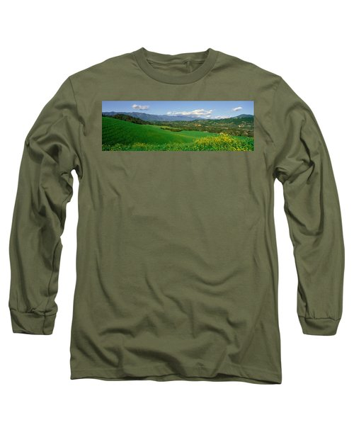 Field In Springtime, Ojai, California Long Sleeve T-Shirt