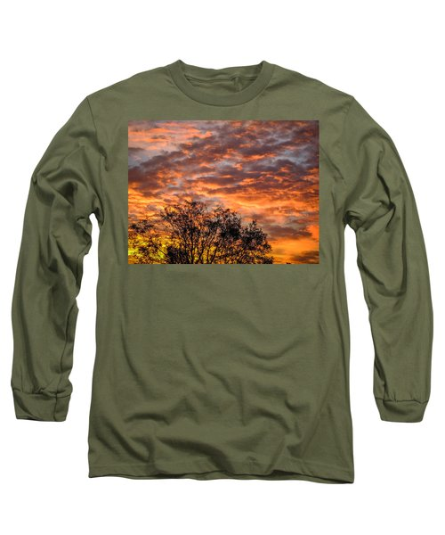 Fiery Sunrise Over County Clare Long Sleeve T-Shirt