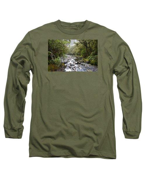 Fiordland National Park New Zealand Long Sleeve T-Shirt by Venetia Featherstone-Witty