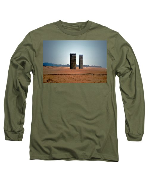 Fct5 And Fct6 Fire Control Towers On The Beach Long Sleeve T-Shirt