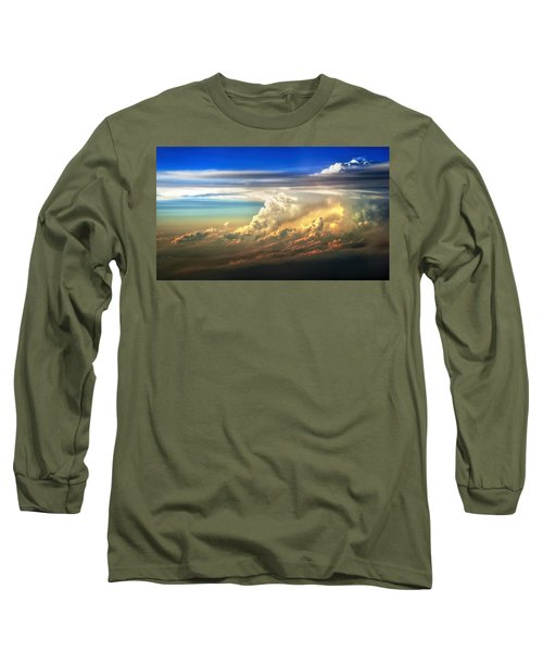 Fire In The Sky From 35000 Feet Long Sleeve T-Shirt