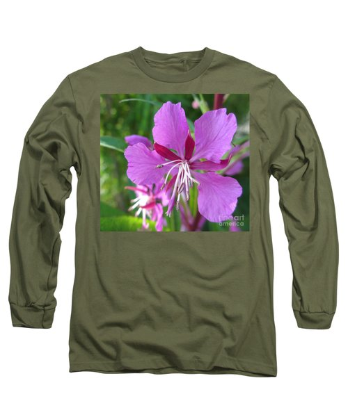 Fireweed 1 Long Sleeve T-Shirt by Martin Howard