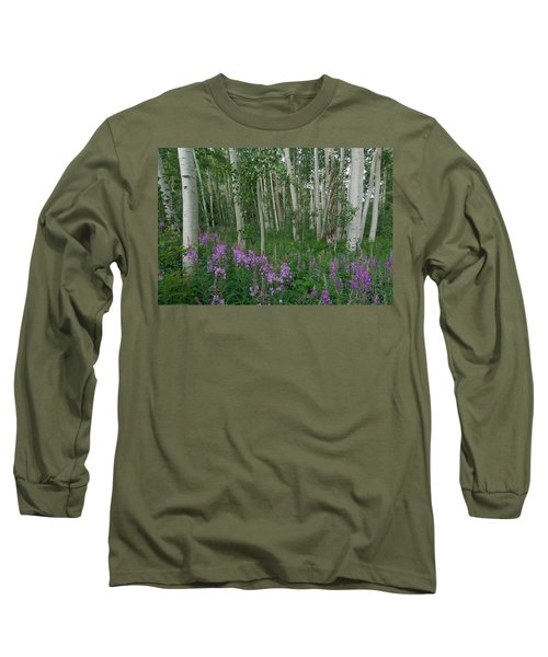Fireweed And Aspen Long Sleeve T-Shirt