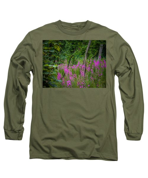 Fireweed In The Irish Countryside Long Sleeve T-Shirt