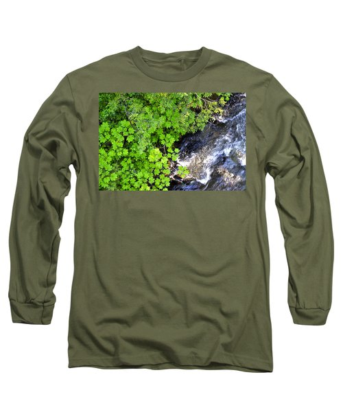 Fish Creek In Summer Long Sleeve T-Shirt by Cathy Mahnke