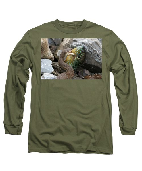 Fishing Long Sleeve T-Shirt by Jeannette Hunt