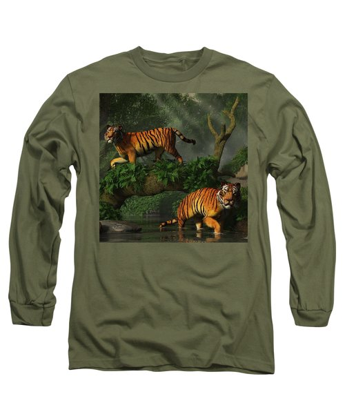 Fishing Tigers Long Sleeve T-Shirt